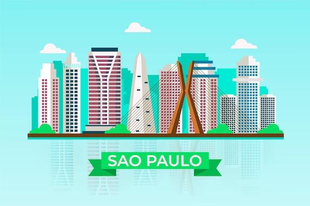 Skyline di sao paulo brasile