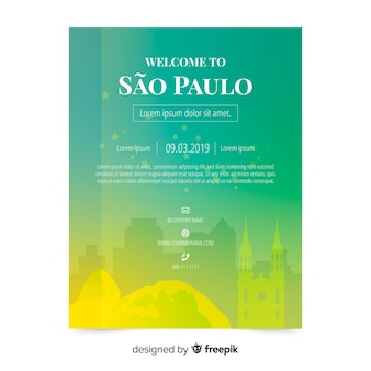 Sao paulo flyer template