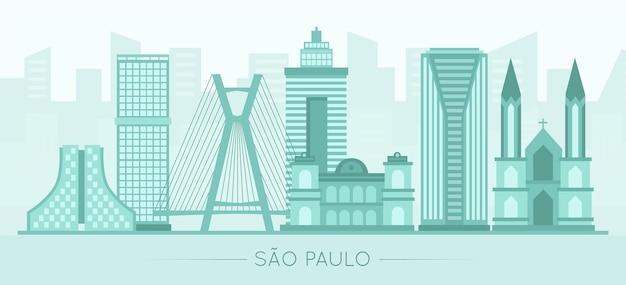 Достопримечательность сан-паулу в синих тонах