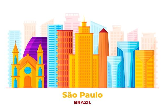 Сан-паулу - линия горизонта достопримечательностей