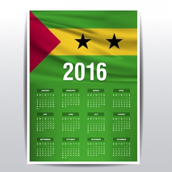 Sao tome and principe calendar of 2016