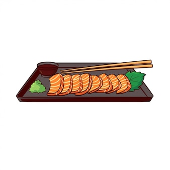 Sashimi is a typical food from japan