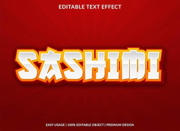 Sashimi text effect template premium style