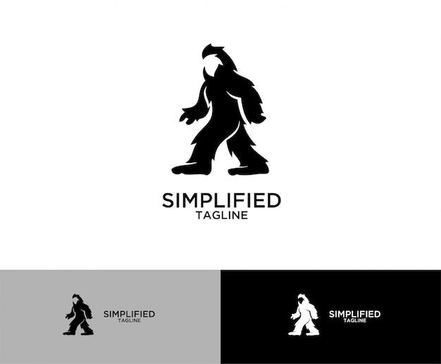 Дизайн логотипа символа большой ноги sasquatch