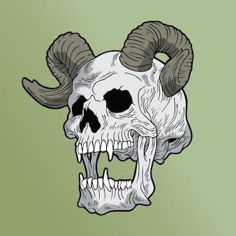 Satan skull