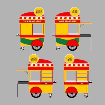 Satay 음식 카트 디자인