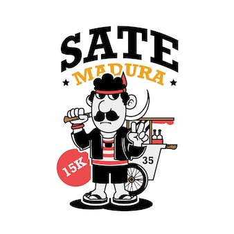 Sate indonesia traditional culinary