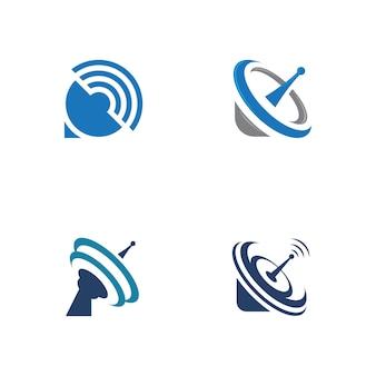 Sateliteベクトルアイコンデザインイラストテンプレート