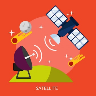 Satellite background design