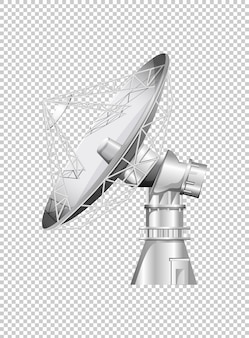 Satellite dish on transparent background