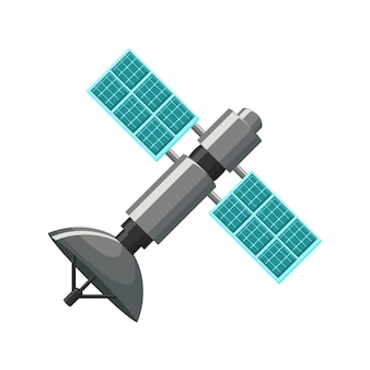 Satellite icon in grey and blue