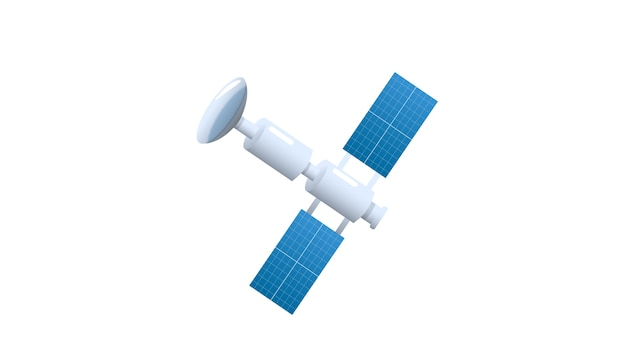 Satellite isolated vector illustration