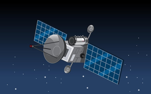 A satellite in outer space