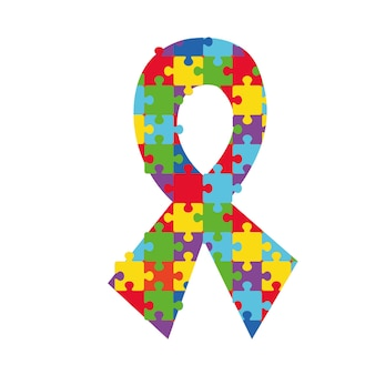 A satin newsletter with a vivid puzzle pattern to symbolize support for people with autism and asperger s syndrome. psychological therapy and autistic volunteers logo