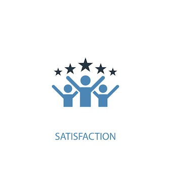 Satisfaction concept 2 colored icon. simple blue element illustration. satisfaction concept symbol design. can be used for web and mobile ui/ux