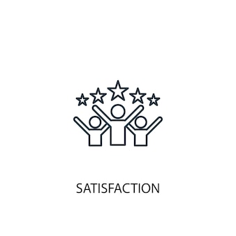 Satisfaction concept line icon. simple element illustration. satisfaction concept outline symbol design. can be used for web and mobile ui/ux