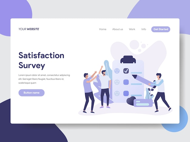 Satisfaction survey illustration for web page