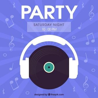 Saturday night party flyer