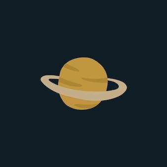 Saturn planet symbol social media post vector illustration