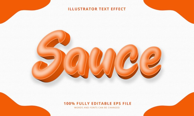 Редактируемый текстовый эффект соуса