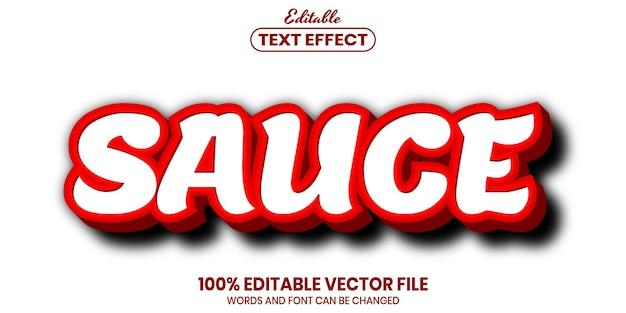 Текст соуса, редактируемый текстовый эффект в стиле шрифта
