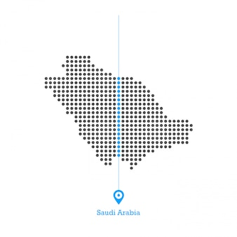 Saudi arabia doted map desgin vector