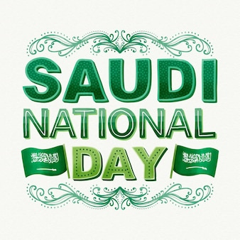 Saudi national day concept