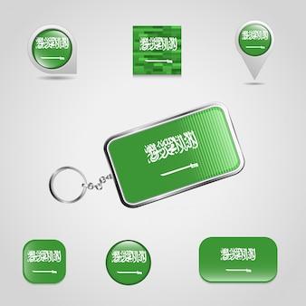 Saudia arabia flagのデザインアイコンが設定されています