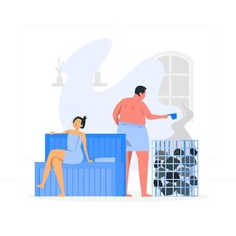 Illustrazione di concetto di sauna