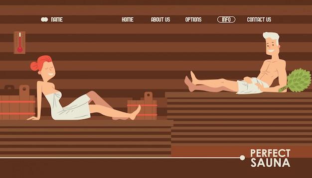 Sauna website design