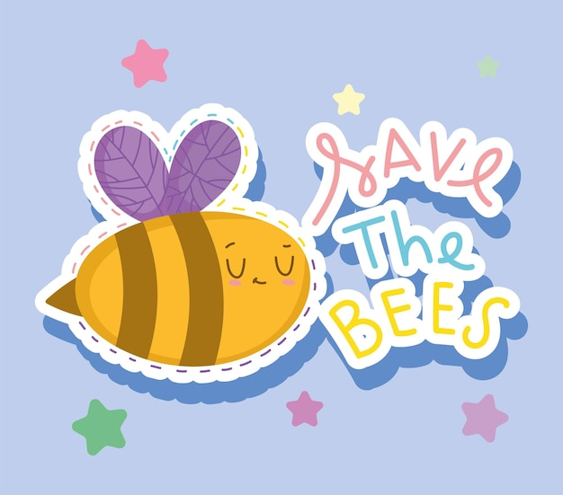 Save the bees message