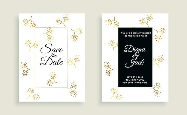 Save the date beautiful wedding card