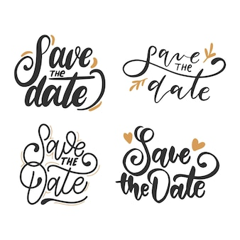 Save the date calligraphy collection