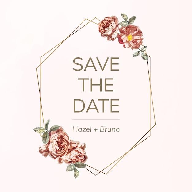 Save the date card mockup illustration