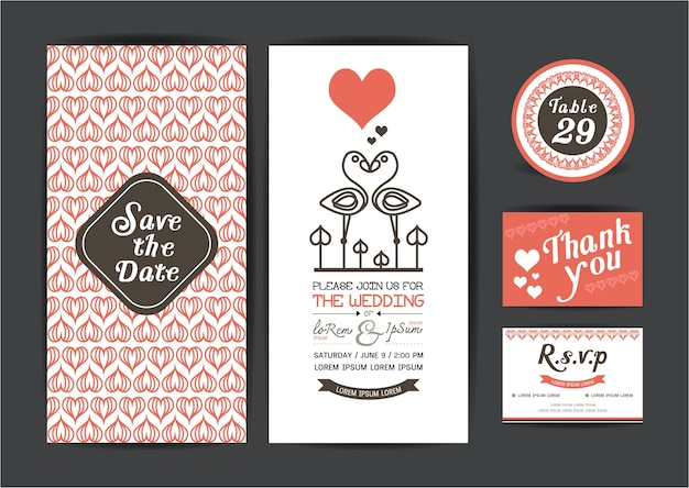 Save the date cards.