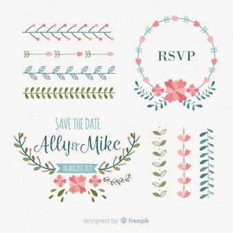 Save the date decorative element collection