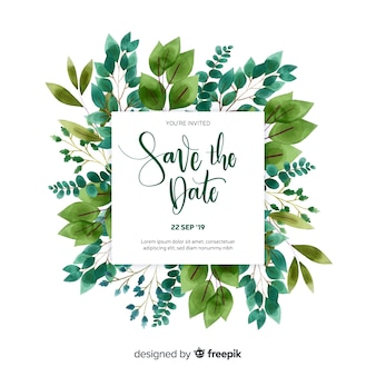 Save the date invitation card template