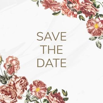 Save the date invitation illustration