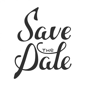 Save the date invite card  lettering