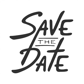 Save the date invite card template lettering