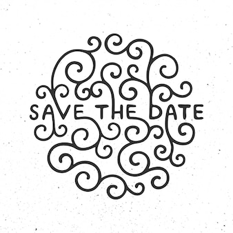 Save the date invite card vector template