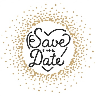 Save the date invite greeting card template