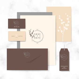 Save the date layout set vector
