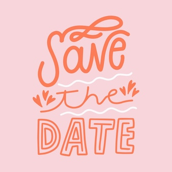 Save the date lettering background
