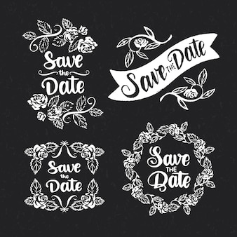 Save the date lettering collection concept
