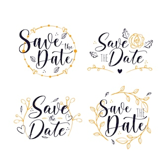Save the date lettering collection design