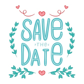 Save the date lettering collection theme
