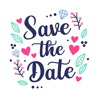 Save the date lettering concept