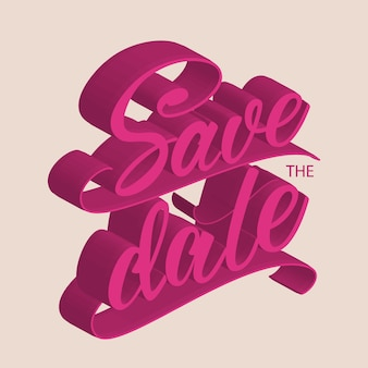 Save the date lettering design