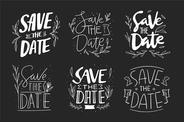 Save the date lettering pack